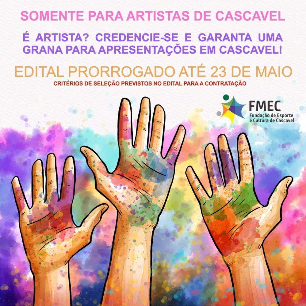 Prorrogado o credenciamento de artistas para apresentações remuneradas em Cascavel