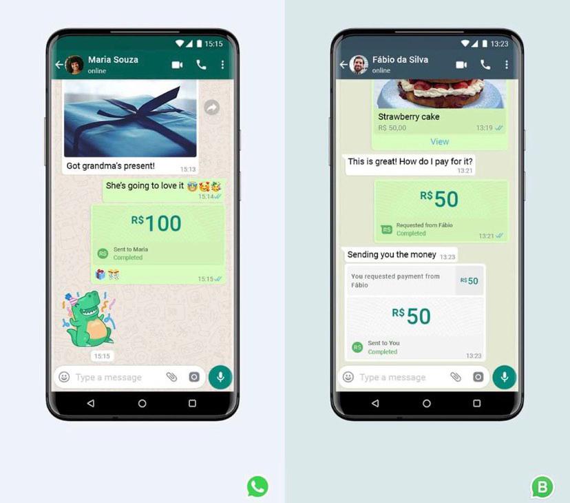 Usuários poderão enviar dinheiro pelo WhatsApp