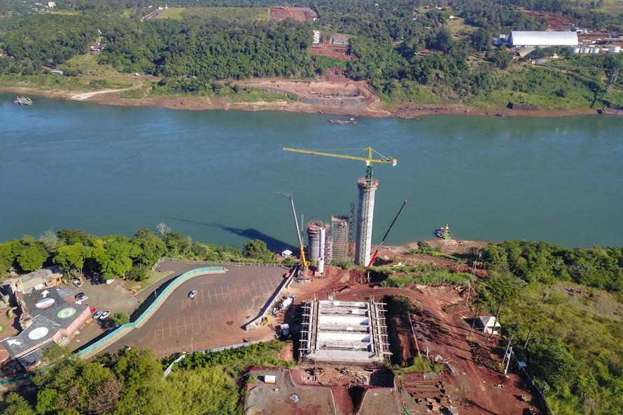 Obra da segunda ponte em Foz chega aos 22% de execução