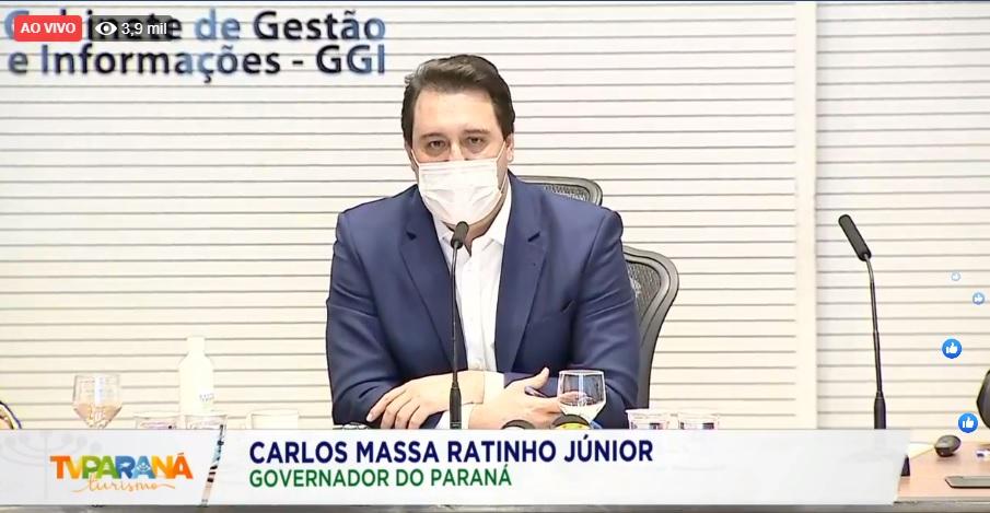 Medidas foram anunciadas pelo governador Ratinho Junior