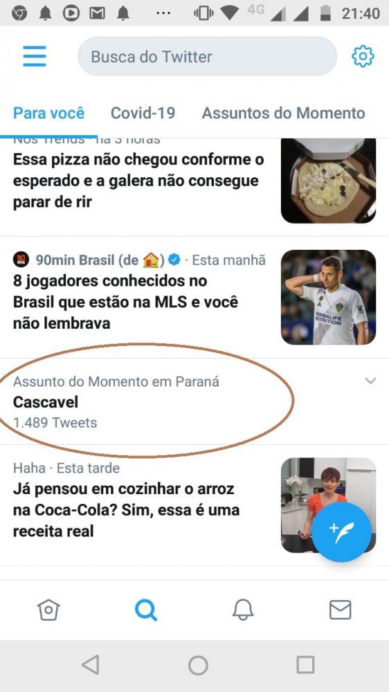 Cascavel ´bomba´ no Twitter depois que prefeitura anuncia liberação de eventos